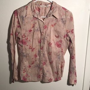 American Eagle floral button down size 8